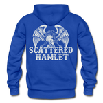 Eagle Back Gildan Heavy Blend Adult Hoodie - royal blue