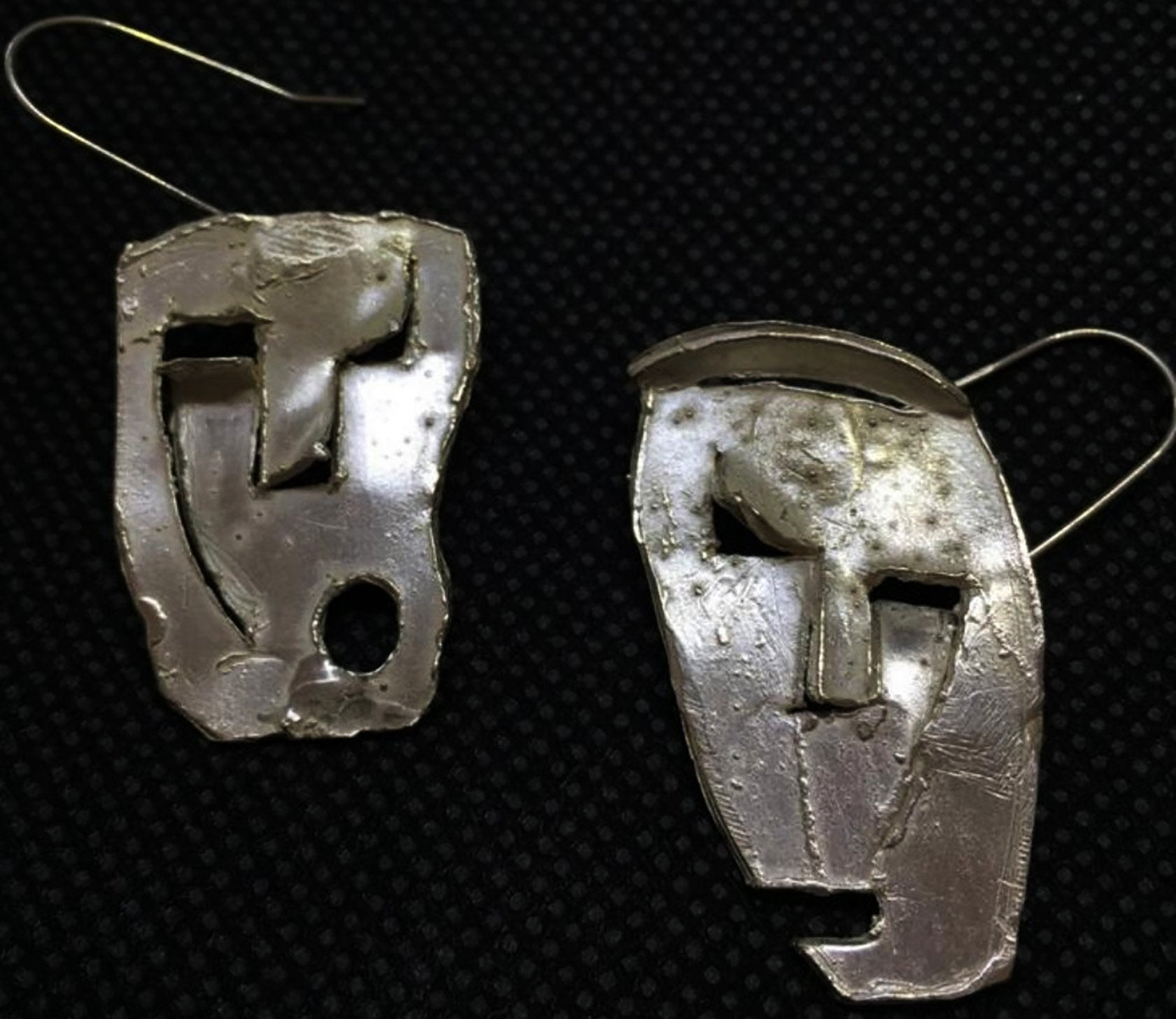 Abstract face earrings - sohogalleries