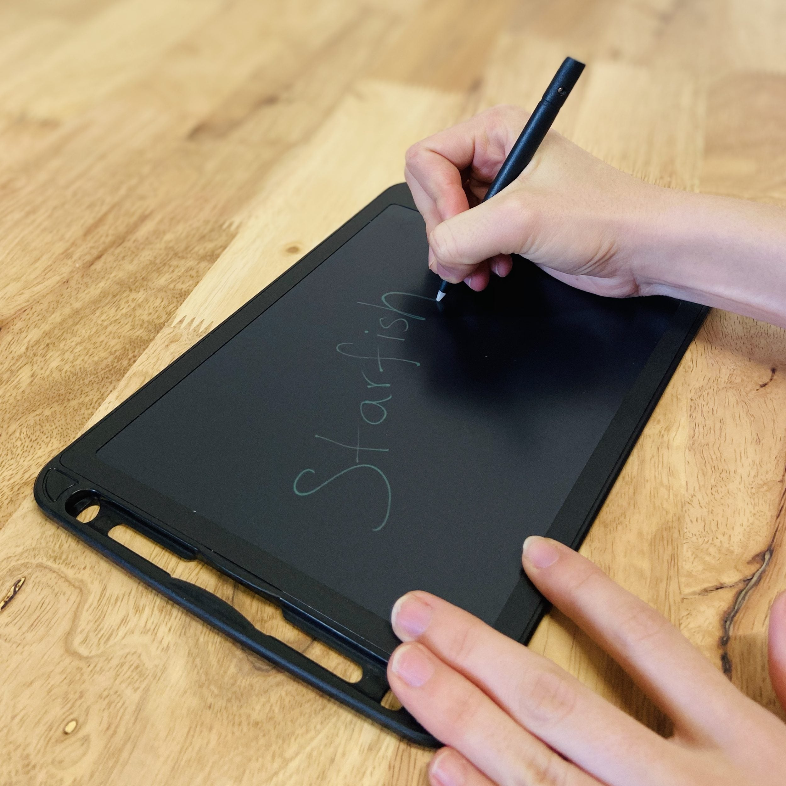 """10"""" LCD Writing Tablet on wooden table"""