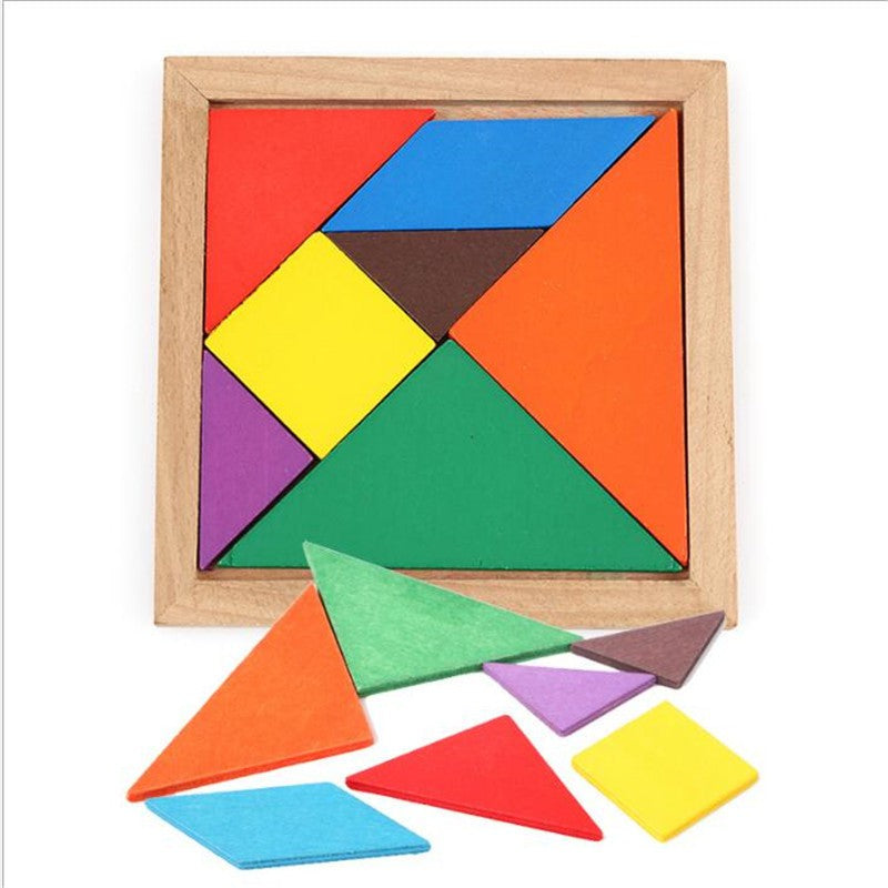 A simple puzzle involving shapes and colours to improve spatial reasoning