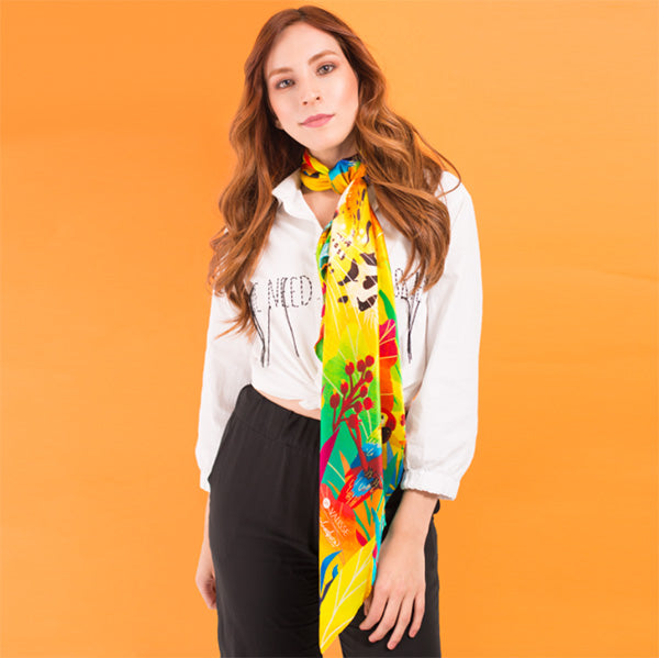 animal prints long scarf