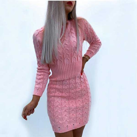 Elegant Knitted Mini Dress