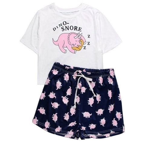Two-Piece Cute Cartoon Lounge Pajama Sets