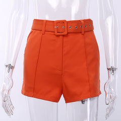 Two-piece Blazer and shorts sets with Belts
