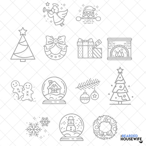 holiday engraving bundle