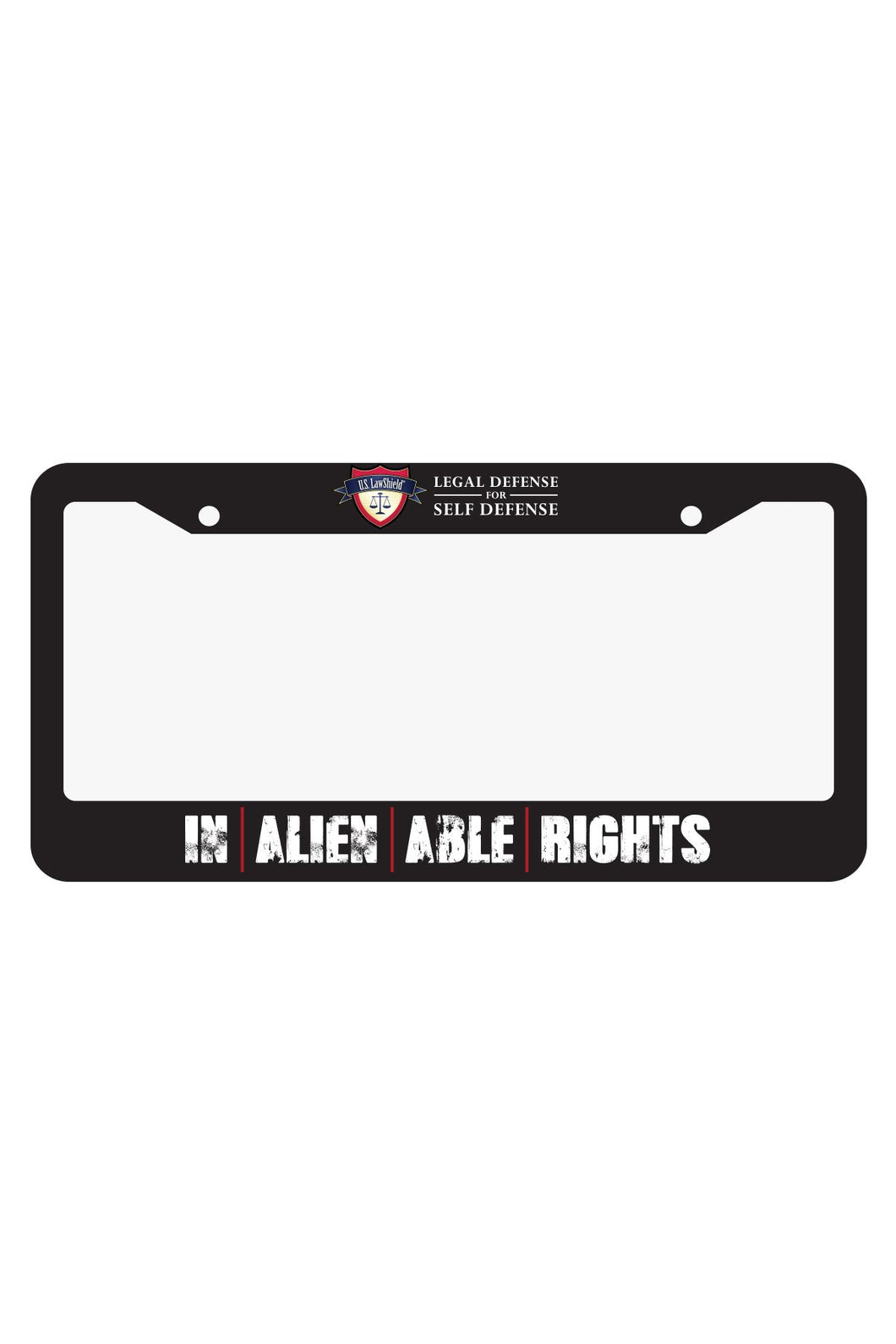 Inalienable Rights License Plate Frame