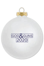 Load image into Gallery viewer, U.S. LawShield God & Guns 2020 Holiday Ornament