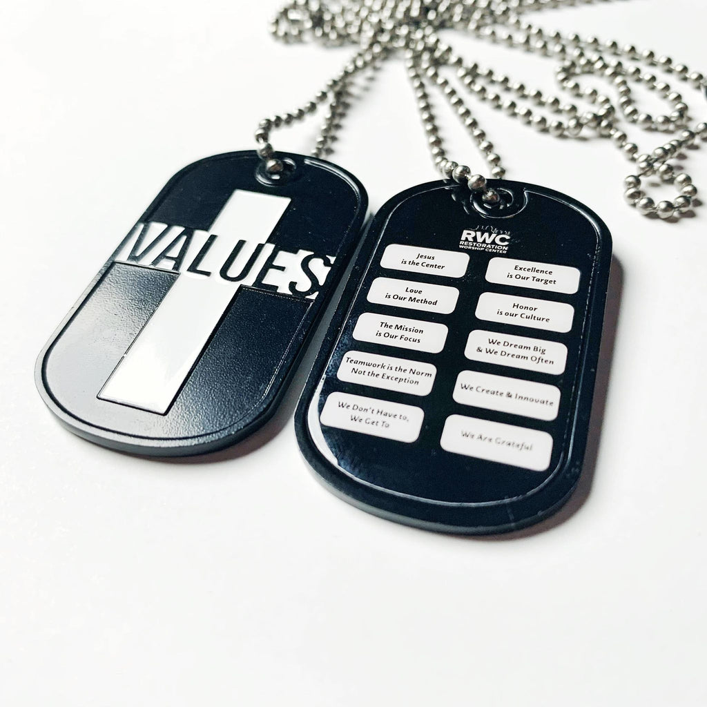 """Values"" Dog Tags"