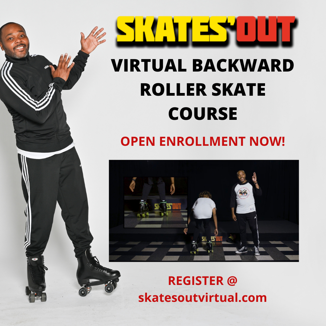 Skates'Out Virtual Backward Roller Skate Course Youth or Adult