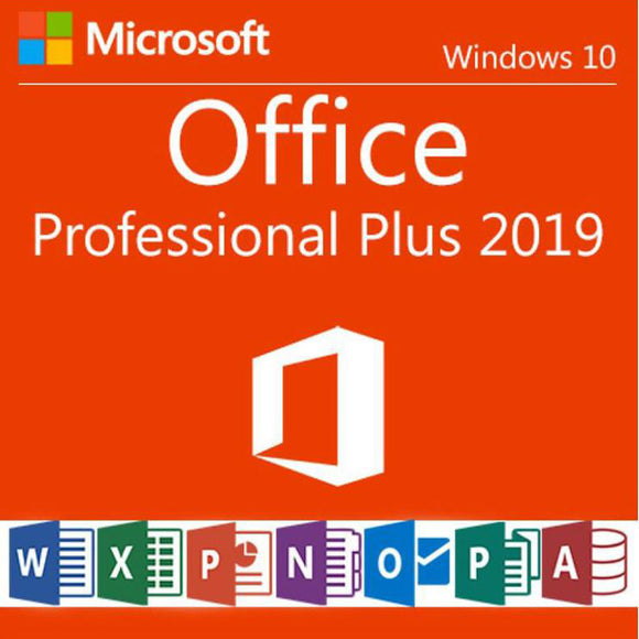 Microsoft Office 2019 Professional Plus Product Key Sent by email