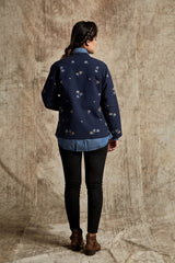Navy Blue Embroidered Jacket