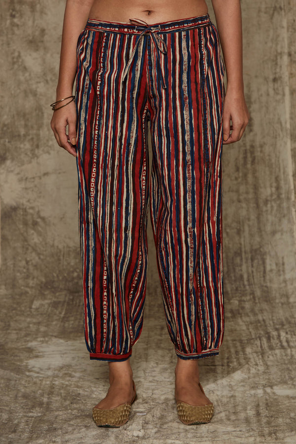 Bagru Stripes Trousers