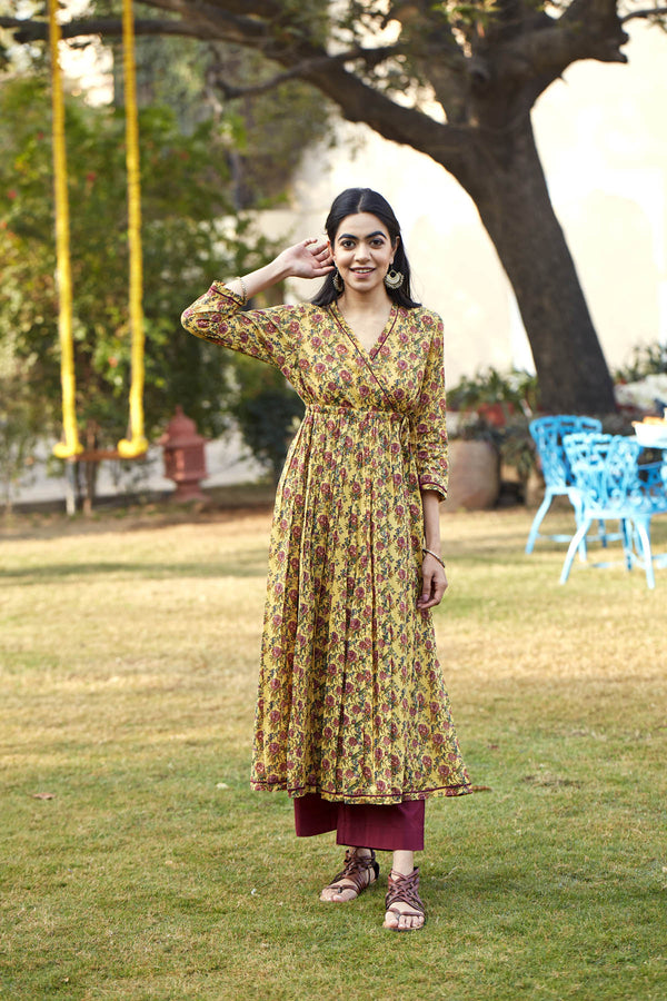 Wine Rose Kurta