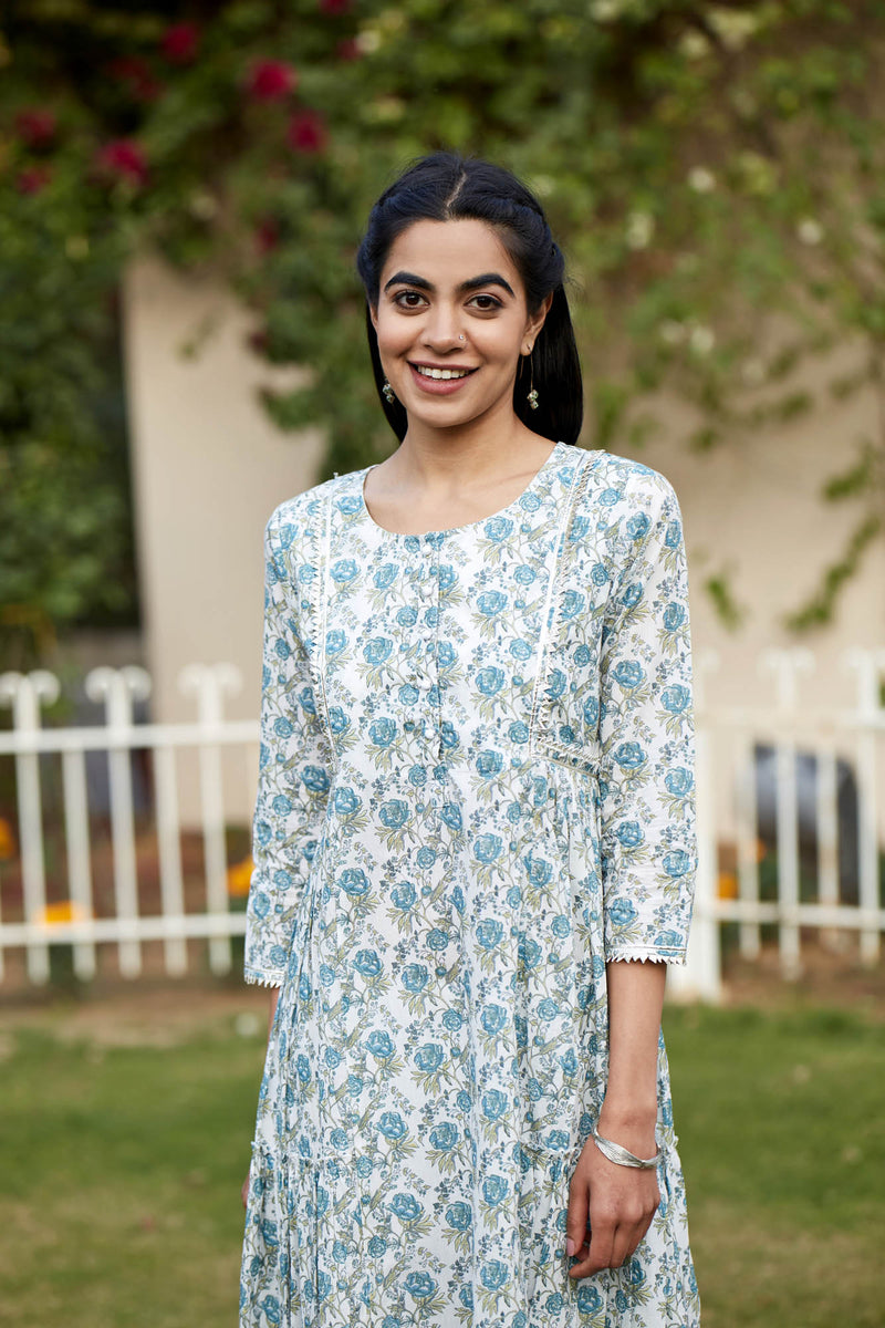 Blue Rose Kurta