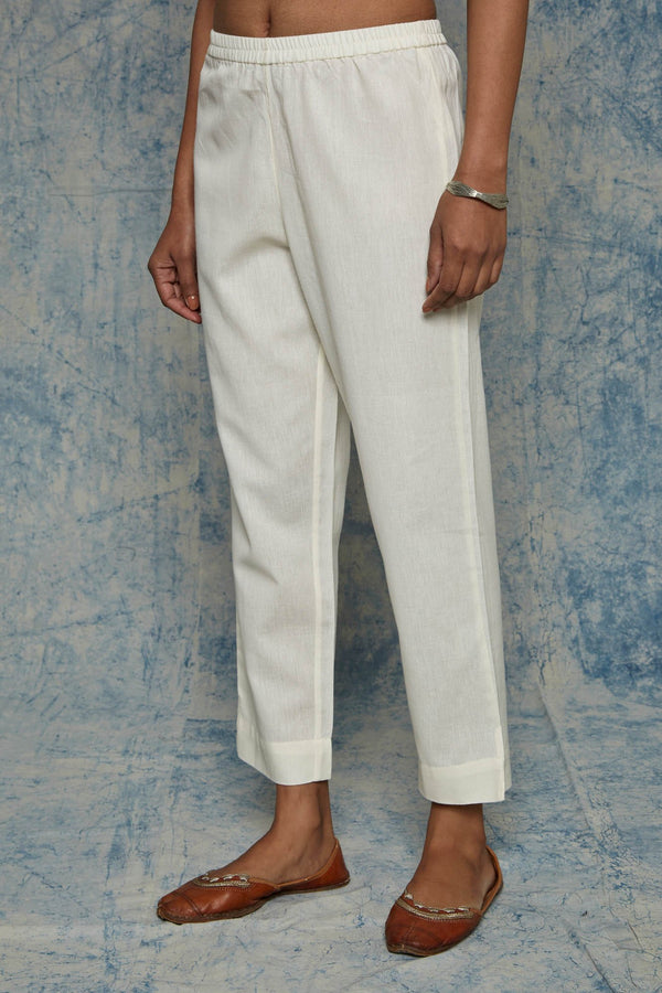 Cream Narrow Leg Trouser