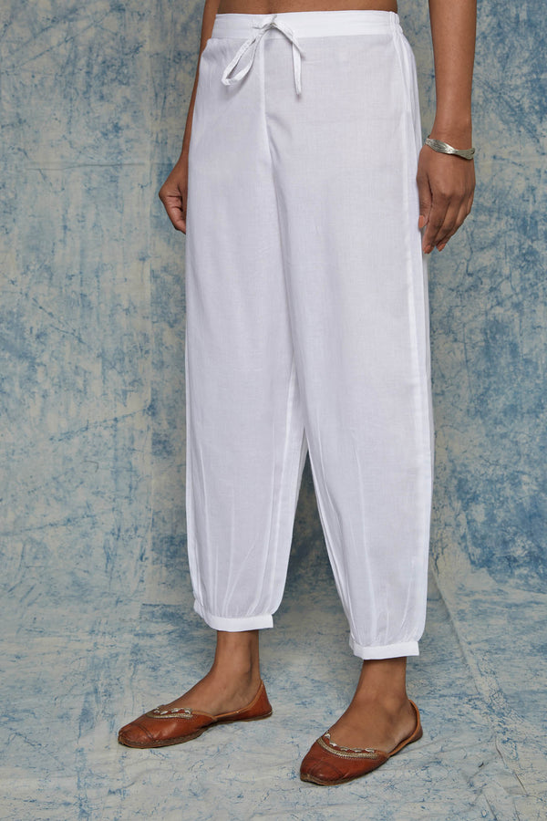 White Afghani Pants