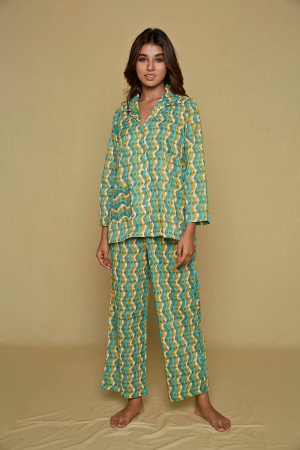 Waves Pajama Set