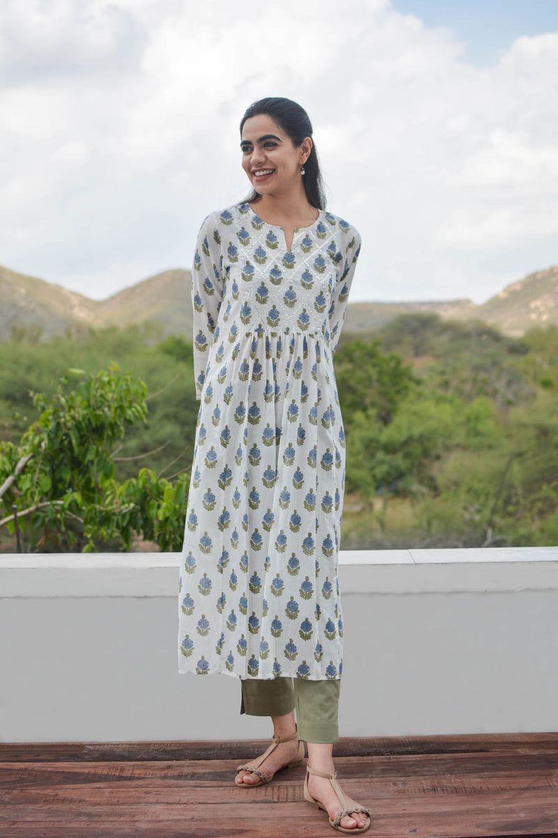 Gota Lattice Kurta