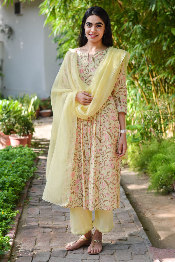 Yellow Bouquet Kurta