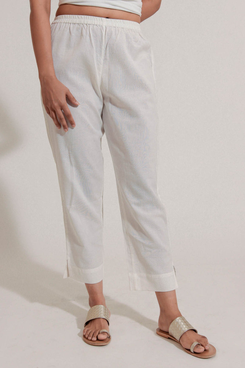 White Narrow Trouser