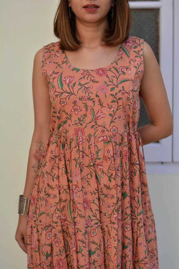 Peach Bouquet Dress