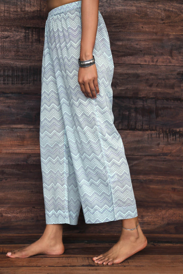 Blue Zigzag Trousers