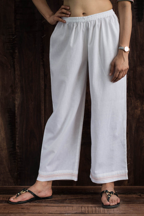 Trouser With Stitch Detail