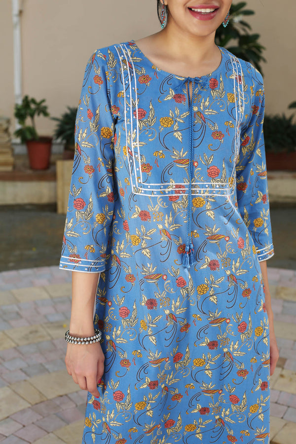 Parrot and Marigold Kurta