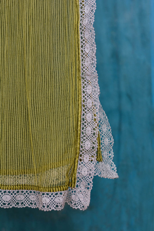 Green Stripes Dupatta