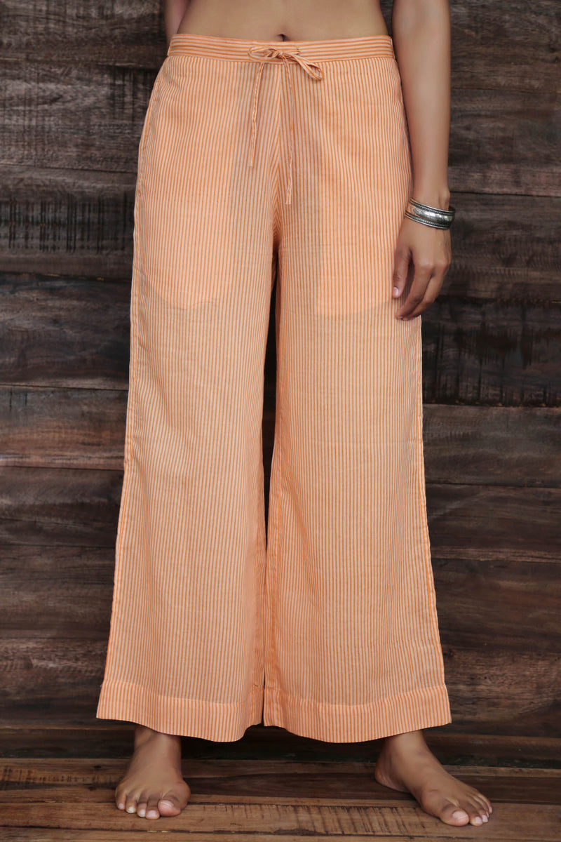 Orange Stripes Trousers