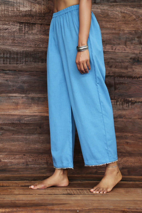 Wide Leg Trousers with Gota