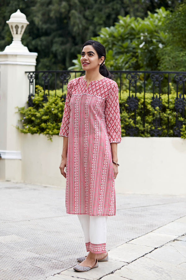 Red Diamond Kurta