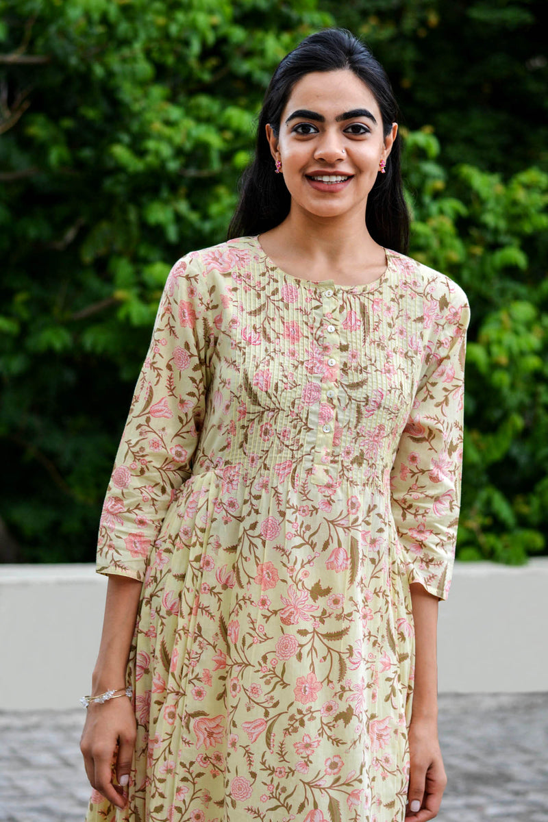 Yellow Floral Kurta