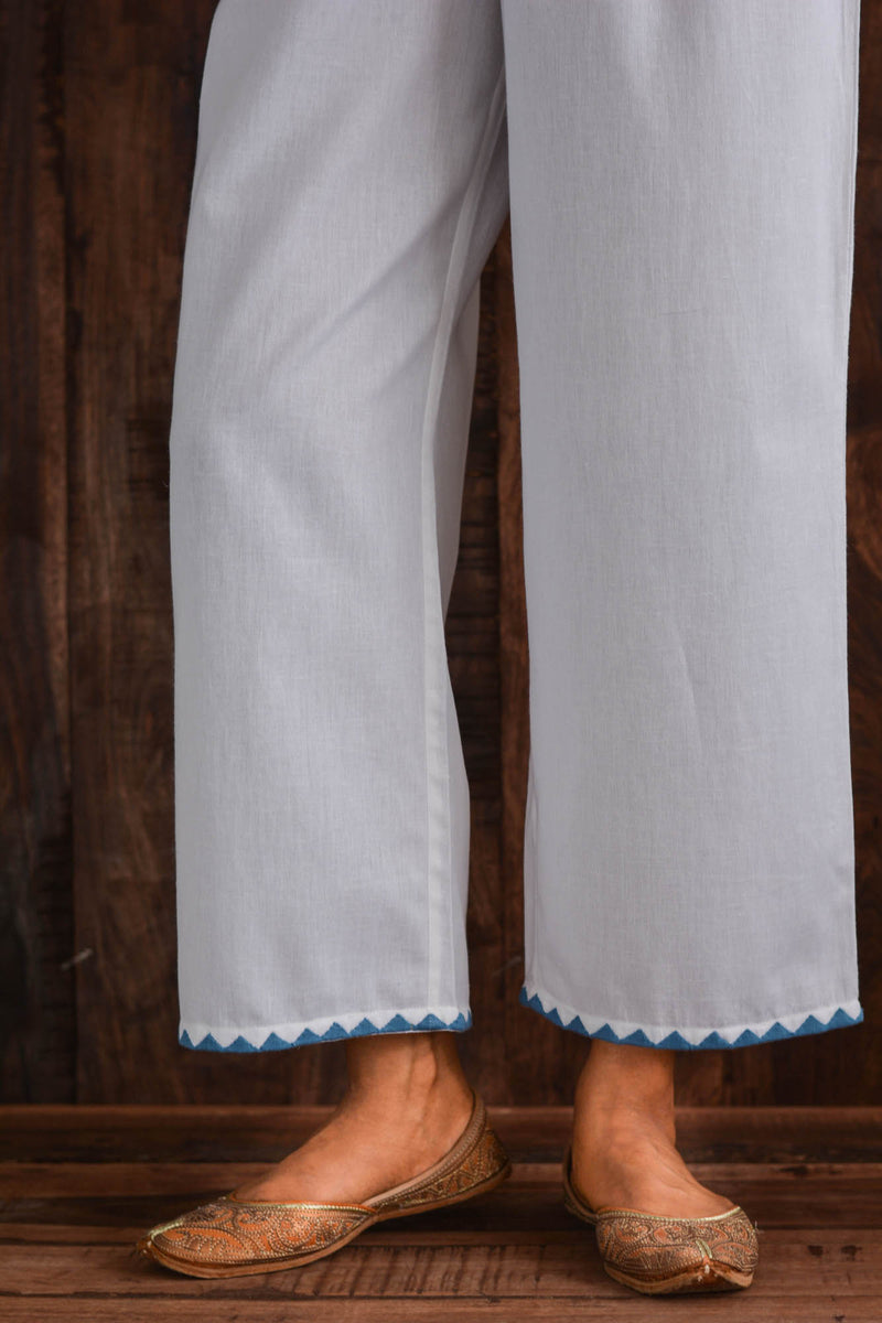 Blue Applique Trousers
