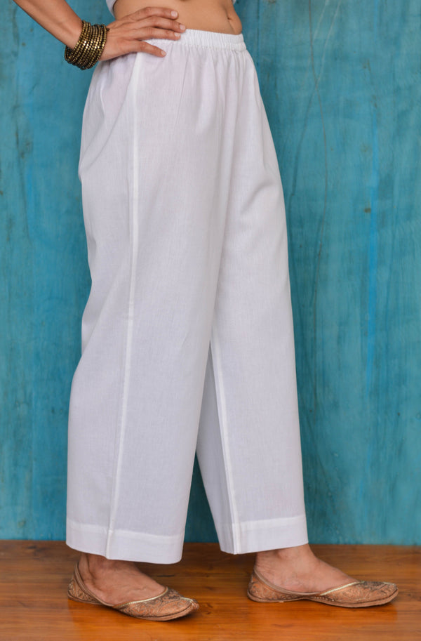 White Wide Leg Trouser