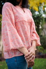 Short Gathered Blouse