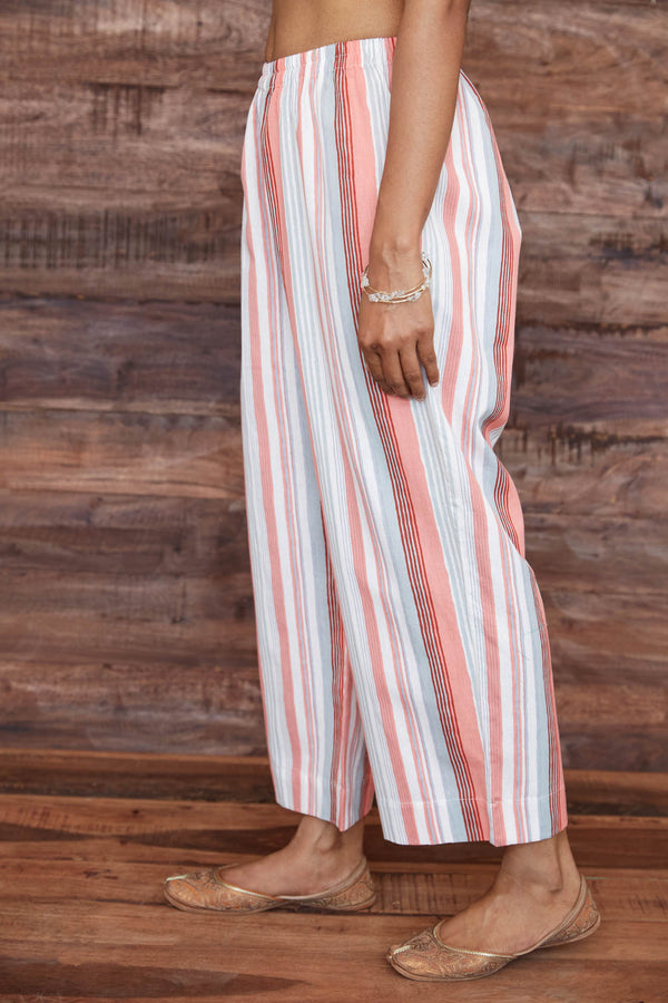Peach Stripes Trouser