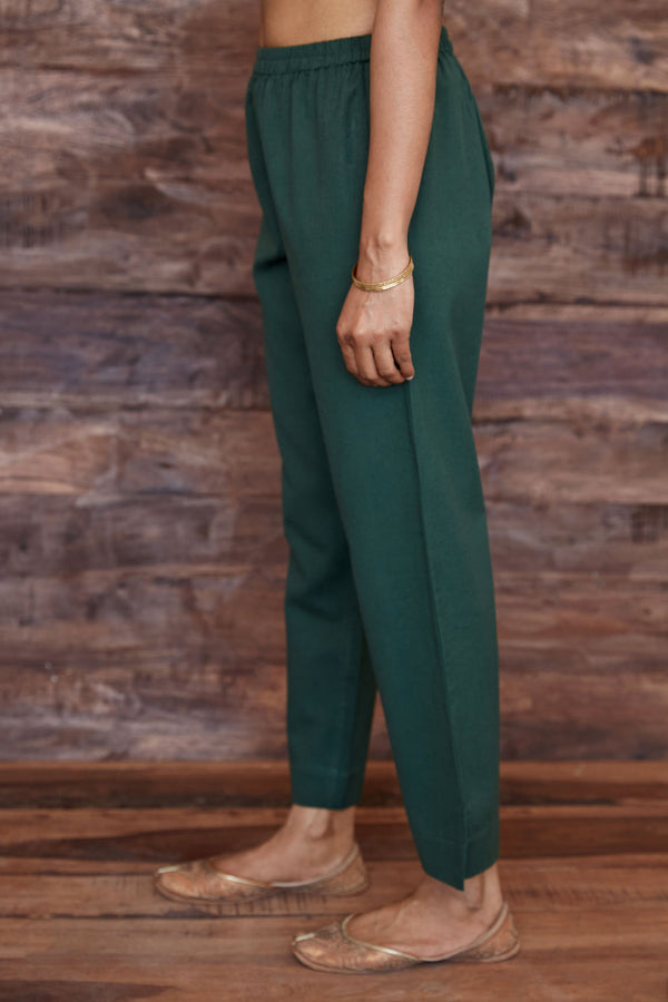 Green Flax Trouser