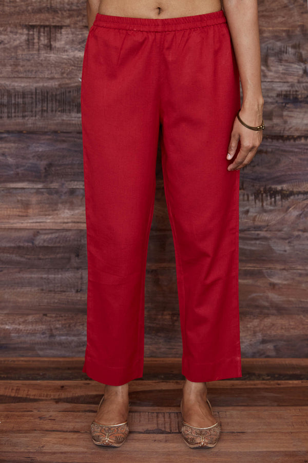 Red Flax Trouser