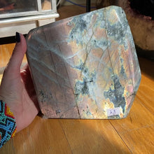 Load and play video in Gallery viewer, Pink Orange Sunset Labradorite