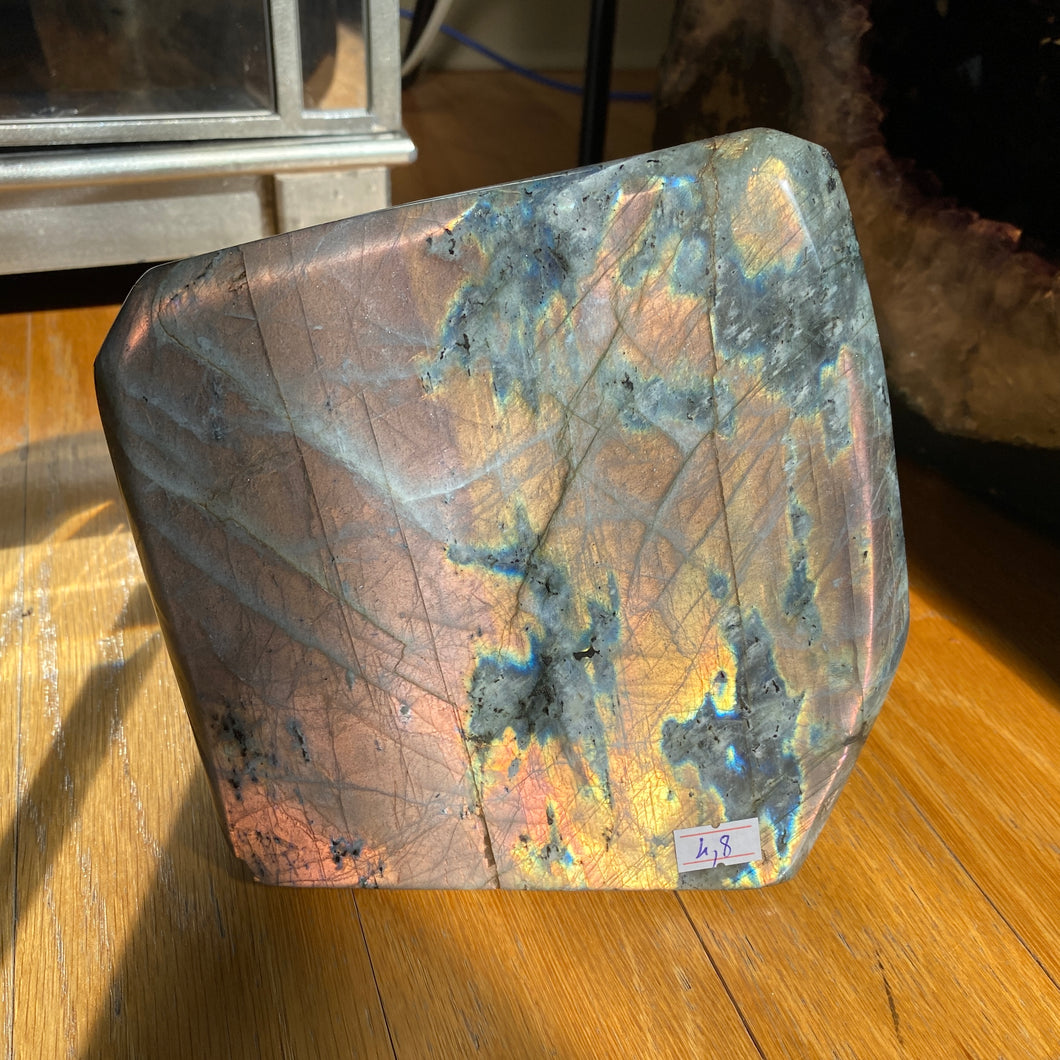 Pink Orange Sunset Labradorite