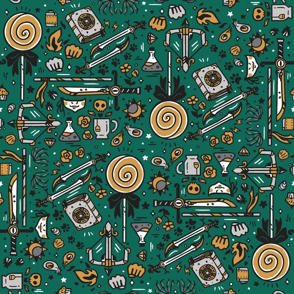 Critical Role Wrapping Paper 4 Pack: Green & Silver