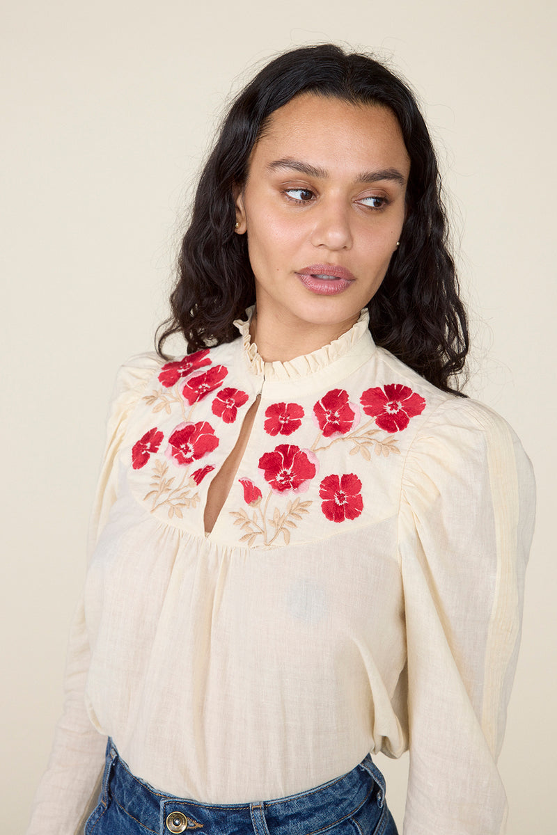 POPPY TOP – BEIGE