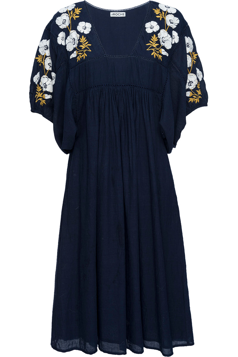 LAKE MIDI DRESS – NAVY