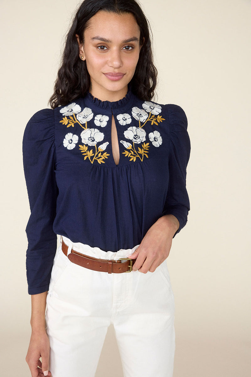 POPPY TOP – NAVY