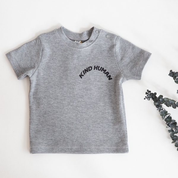 'Kind Human' Organic Toddler Tee