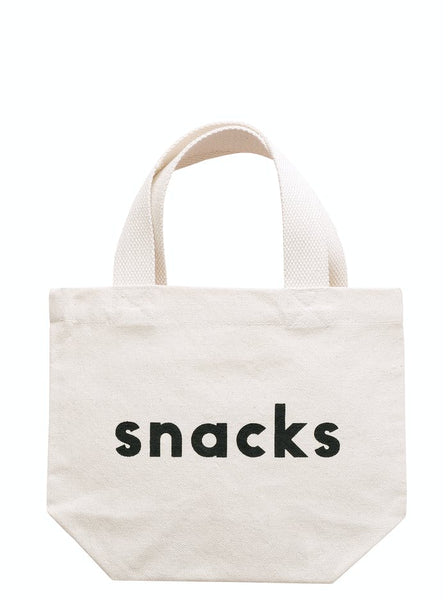 'Snacks' Little Canvas Bag