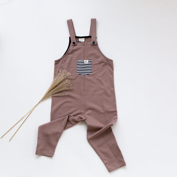 Stone Easyfit Dungarees