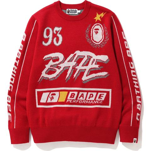 BAPE Motor Sport Knit Red