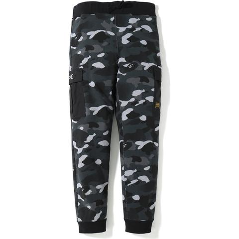 BAPE Gradation Camo Military Slim Sweat Pants Black